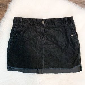 J.Crew Corduroy Black Mini Skirt